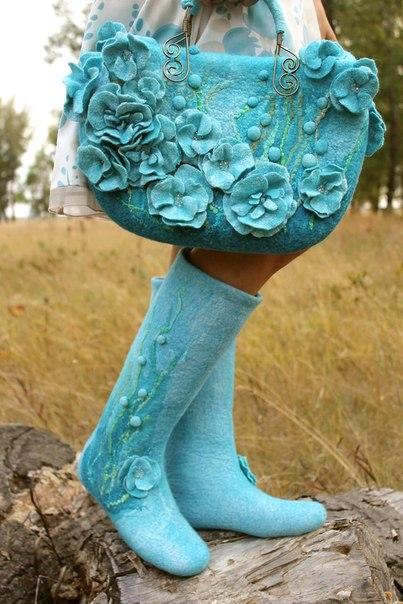Обувь из валяной шерсти своими руками