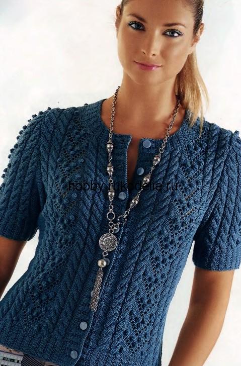 Вязание с спицами кофты для женщин